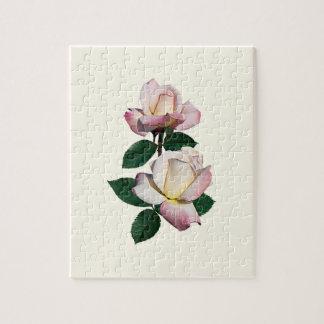 Pale Pink Rosebuds Variety Pristine Jigsaw Puzzle
