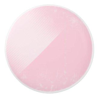 Pale Pink Shaded Round Ceramic Knob