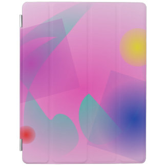 Pale Pink Simple Abstract Composition iPad Cover