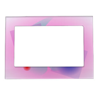 Pale Pink Simple Abstract Composition Magnetic Picture Frame