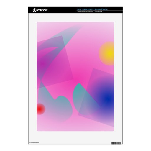 Pale Pink Simple Abstract Composition Decals For PS3