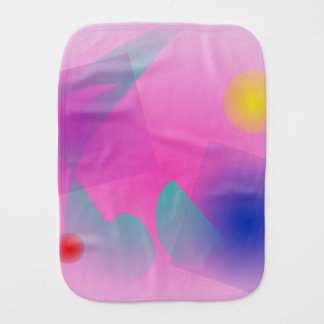Pale Pink Simple Abstract Composition Baby Burp Cloths