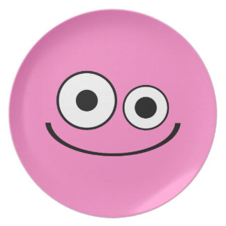 Pale Pink Smiley Plate