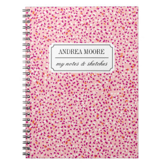 Pale Pink Snow Leopard Customized Notebook