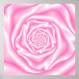 Pale Pink Spiral Rose Poster
