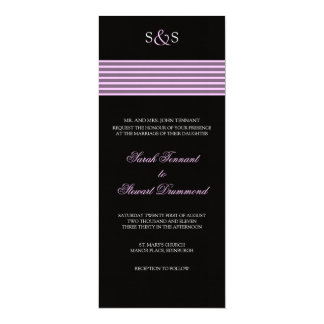 Pale Pink Stripe Wedding Invitation - slim