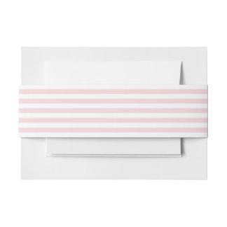 Pale Pink Stripe Invitation Belly Band