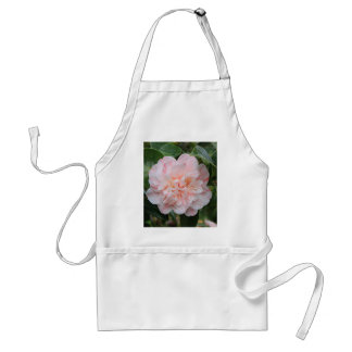 Pale pink striped camellia adult apron