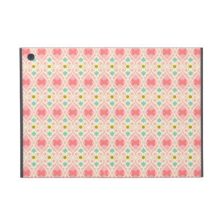 Pale Pink, Teal and Gold Butterfly Design iPad Mini Case