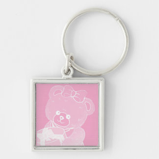 Pale Pink Teddy Bear for Girls Key Chain