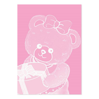 Pale Pink Teddy Bear for Girls Large Business Card