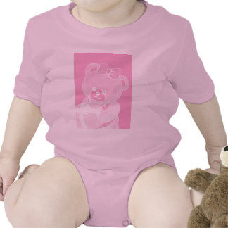 Pale Pink Teddy Bear for Girls Shirts