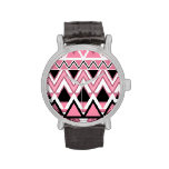 Pale Pink Tribal Pattern Watches