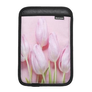 pale pink tulips,digital modern photo,pattern,chic sleeve for iPad mini