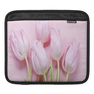 pale pink tulips,digital modern photo,pattern,chic sleeve for iPads