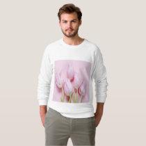 pale pink tulips,digital modern photo,pattern,chic sweatshirt