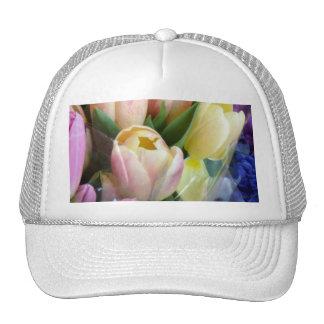 Pale Pink Tulips Fashion Hat