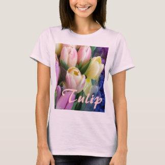 Pale Pink Tulips Fashion T-Shirt