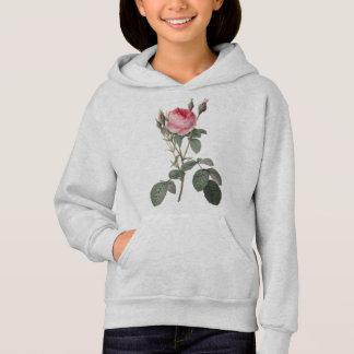 Pale pink vintage roses painting hoodie