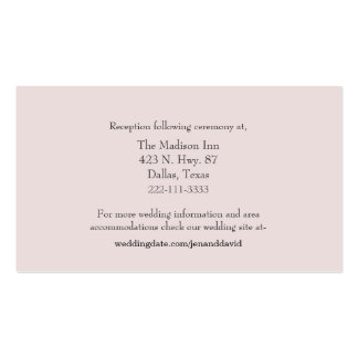Pale Pink Wedding enclosure cards Business Card