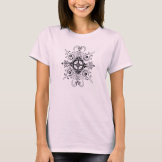 Pale Pink Woman's T-Shirt with Henna Design
