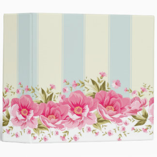 pale pink,yellow,shabby chic,floral,vintage,trendy binders
