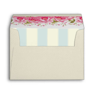 pale pink,yellow,shabby chic,floral,vintage,trendy envelopes