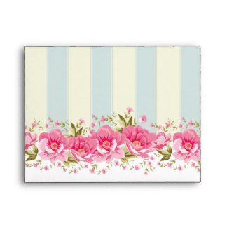 pale pink,yellow,shabby chic,floral,vintage,trendy envelope