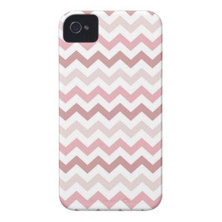 Pale Pink Zig Zag Chevrons Pattern iPhone 4 Case