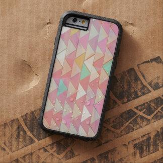 Pale Playful Pastel Chevron Tough iPhone6 Case-KCS Tough Xtreme iPhone 6 Case