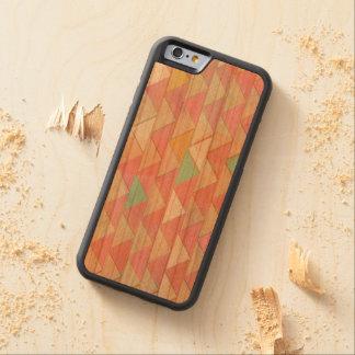 Pale Playful Pastel Chevron Wood iPhone 6 Case-KCS Carved® Cherry iPhone 6 Bumper Case
