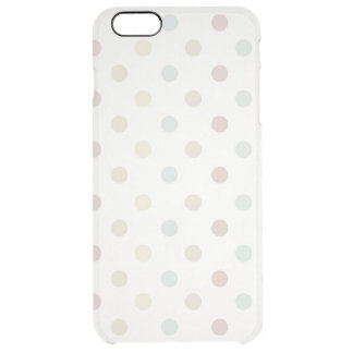 Pale Polka Dot Clear iPhone 6 Plus Case