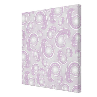 Pale Purple and Gray Paisley Pattern Stretched Canvas Prints