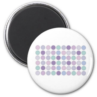 Pale Purple circles design! Magnet