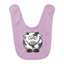 Pale Purple Cow Bib