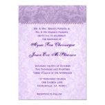 Pale Purple Damask Monogram Wedding D592 Personalized Announcement