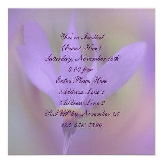 Pale Purple Flower Square Party Invitation