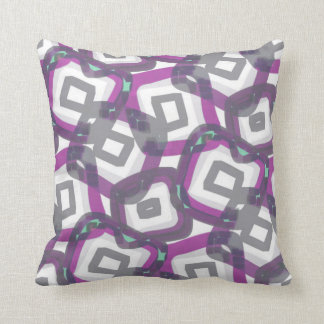 Pale Purple Gray Geometric Sqaures Abstract Throw Pillow