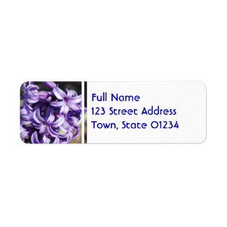 Pale Purple Hyacinth Return Address Label