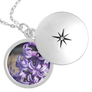 Pale Purple Hyacinth Locket Necklace