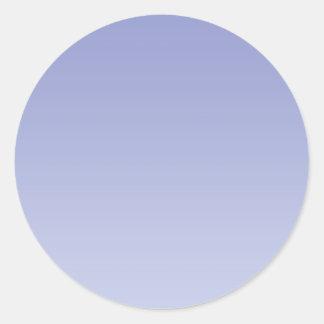 Pale Purple Ombre Classic Round Sticker