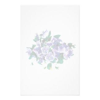 Pale Purple Pansies Stationery