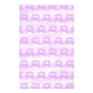 Pale Purple Pattern of Princess Carriages Stationery Design