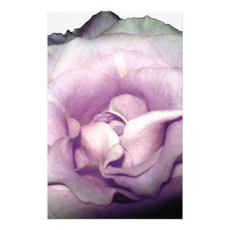 Pale Purple Rose Stationery