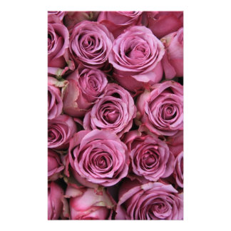 pale purple roses personalized stationery