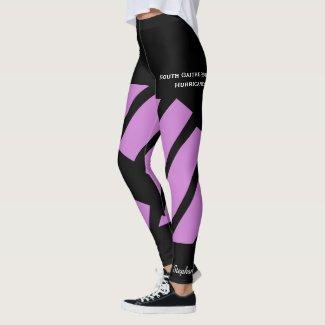 Pale Purple Team/Club Leggings with Fake Shorts