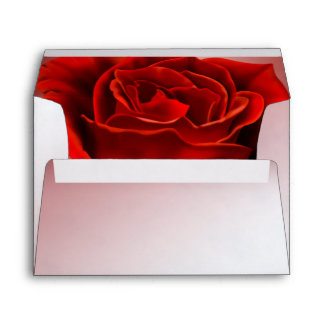 Pale Red Marble with Rose Envelope