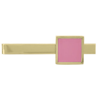 Pale Red-Violet Gold Finish Tie Clip