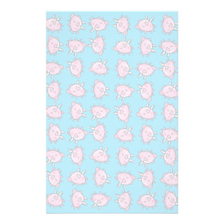 Pale repeating pig fly pattered stationary stationery