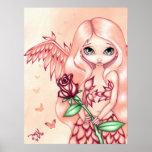 Pale Rose ART PRINT fantasy angel